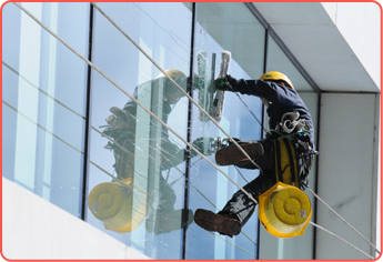 Window Cleaner Cleaning Exterior Windows