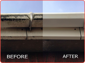 Before and After Gutter Under View